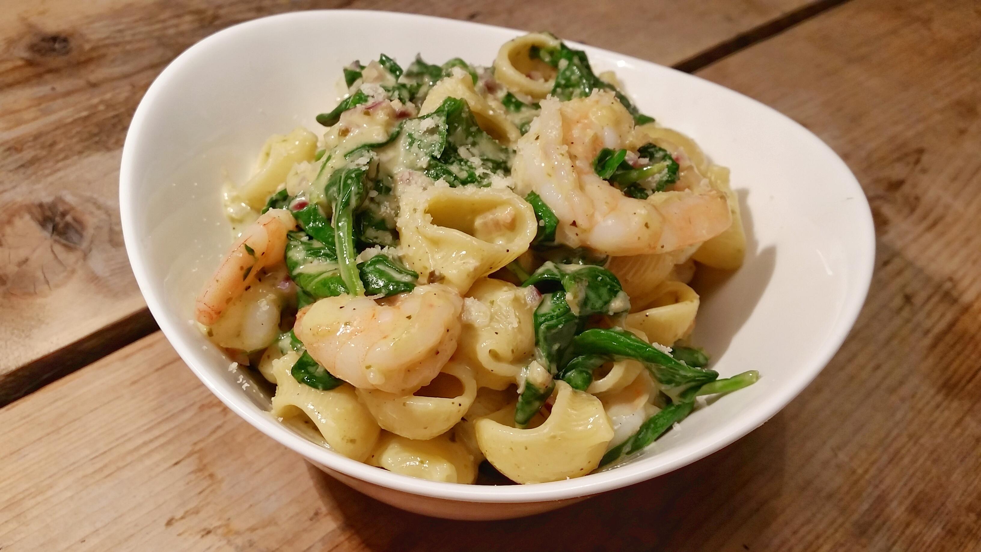 recept spinazie garnalen